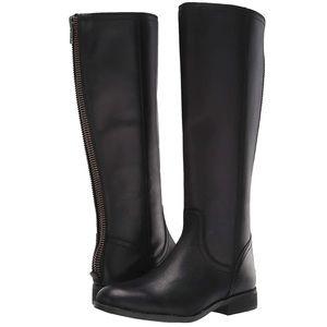 Black Frye Jolie Knee High Zip Up Leather Boots